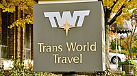 Trans World travel Sign